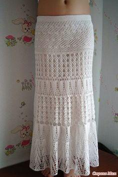 Modelos em croché: Livre Crochet Pattern para Impressionante Maxi Skirt - Verão Maxi Skirt para Treasure