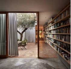 Design inspo: 10 stunning home libraries to inspire you to create one too - STYLE CURATOR - House With A Garden Interior Architecture, Interior And Exterior, Interior Design, Interior Garden, Architecture Courtyard, Room Interior, Casa Patio, Patio Stone, Flagstone Patio