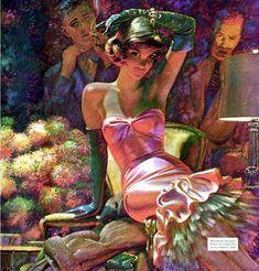 """The Flashy Type"" (1958) Edwin Georgi for the ""Saturday Evening Post"""