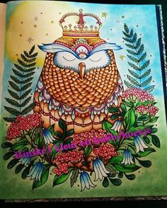 Colored this beautiful owl! #coloring #colors #hannakarlzon…