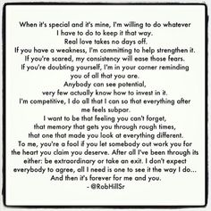Rob Hill sr quote- this man is awesome!