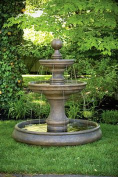 62-OPAL-TWO-TIER-FOUNTAIN-with-POOL-outdoor-cement