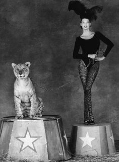 Linda Evangelista, photo by Steven Meisel for Kenar Campaign, 1994 Steven Meisel, Linda Evangelista, Diy Outfits, Helena Christensen, Pantomime, Clowns, Big Cat Diary, Stephanie Seymour, Circus Performers