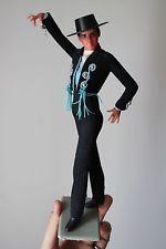 "Marin Chiclana bailarina de flamenco Macho Man Muñeca Vintage Alto 10.5"" Azul Español"