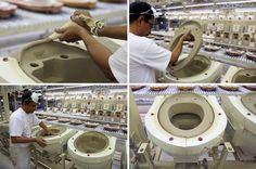 LAUFEN factory visit: ceramic casting