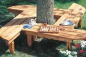 Woodworking Plans & Projects, Storage Projects - pinwheel tree bench