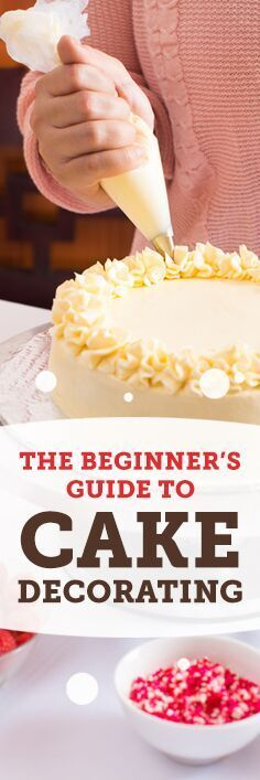 A Beginner's Guide To Cake Decorating We all know what the main attraction at every party is: the cake. But if you really want a showstopper you'll need to decorate it. Luckily our tips make it easy, and fun. Cake Decorating For Beginners, Easy Cake Decorating, Cake Decorating Techniques, Cake Decorating Tutorials, Cake Icing Techniques, Buttercream Decorating, Decorating Ideas, Birthday Cake Decorating, Decorating Supplies