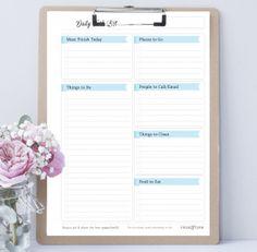 freebie: Daily Task List: Labeled
