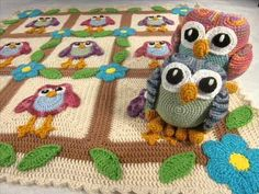 Happy Owl Afghan and Ami Pattern - Crochet Pattern Presentation