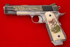 """Shamed be he who thinks evil of it"" Link just goes to a tumblr, but this is a gorgeous custom 1911."