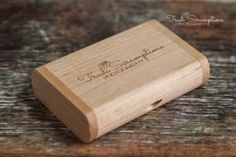 Logo wooden USB - Newborn Photographers Edinburgh