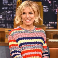 Sienna Miller's Does Perfect Daytime Stripes. Only celebrities can pretend weather doesn't exist and get away with it.