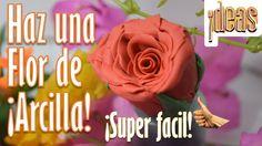 ¡Como hacer: Una rosa de arcilla/plastilina! | facil y rapido