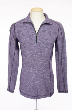 LULULEMON Mens Core 1/2 Zip Pullover S Heathered Deep Zinfandel Long Sleeve Yoga #Lululemon #ShirtsTops