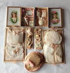 antique doll's presentation box | Exquisite French presentation box with antique size 1 doll