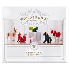 DIY Figural Wooden Animals - Wondershop™