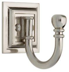 Brainerd 125560 Single Prong Architectural Design Hook, Satin Nickel