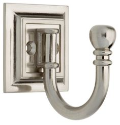 Liberty Architectural Ball End Single Prong Decorative Hook In Satin Nickel 125560 At The Home Depot Tablet