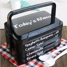 1 Set Creative High Heat Resistance Double Layers Chopsticks Plastic Bento Lunch Box