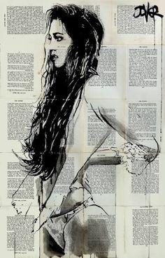"Saatchi Art Artist Loui Jover; Drawing, ""california dreamin'"" #art"