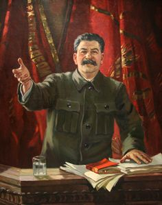 Stalin at the 18th Party Congress (1949) Alexander Mikhaylovich Gerasimov (Александр Михайлович Герасимов. Unión Soviética. Rusia, 1881-1963)