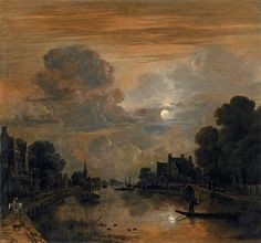 Aert van der Neer, RIVERSCAPE IN THE MOONLIGHT, Auction 995 Old Masters and 19th Centuries Paintings, Lot 1256