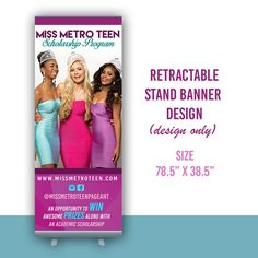 Retractable Banner Design  Graphic Design by TheBrandingPalace