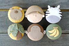 I found these safari fondant tutorial for cupcakes at etsy. Looking perfect Safari Cupcakes, Kid Cupcakes, Animal Cupcakes, Cupcake Cakes, Fondant Cupcakes, Yummy Cupcakes, Cupcake Tutorial, Cake Topper Tutorial, Fondant Tutorial