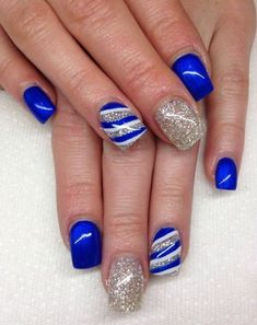 Today we have collected awesome blue nail designs in this post and be ready to get inspired! Hope you will like these blue nail art designs pictures. Cobalt Blue Nails, Blue Gel Nails, Nail Gel, Uk Nails, Gel Manicure, Blue Nail Designs, Acrylic Nail Designs, Acrylic Nails, Gel Nail Polish Designs