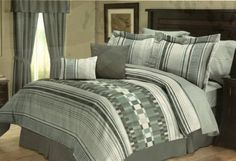 i generation Glendale 10 Piece Queen Comforter Bed In A Bag Set Blue/White/Gray by Cozy Home, http://www.amazon.com/dp/B008539UGO/ref=cm_sw_r_pi_dp_WP7Vrb0YRR0NE