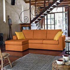 canapé-poltronesofa-orange-escalier-loft