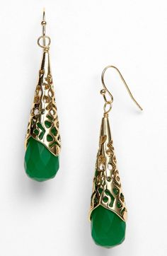 nordstrom jewelry | Kendra Scott Avril Drop Earrings Nordstrom Exclusive in Green (frosted ...