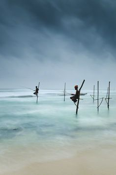 Stilt Fishing in Weligama, Sri Lanka. by Kimberley Coole Sri Lanka Travel Destinations Honeymoon Backpack Backpacking Vacation Southeast Asia BudgetBucket List Wanderlust