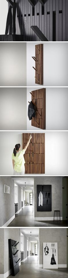 You could turn a simple 4ftX3ft piece of wall into a complete closet with the Luminaire Piano Coat Rack! Designed to look like a piece of wood hanging on the wall, the Piano Cot Rack can be transformed into a series of hooks to hang your clothes, coats, bags, hats, umbrellas, and everything else. The Piano Coat Rack comes in small and large sizes, and can be made in beech, oak, or walnut to suit your size as well as aesthetic needs!