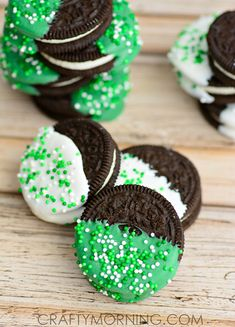 St. Patrick's Day Oreo Treats for Kids - Crafty Morning