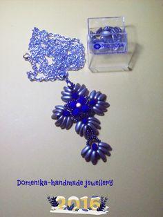 make pendant Preciosa czech beads - κρεμαστό κόσμημα από χάντρες Τσεχίας.