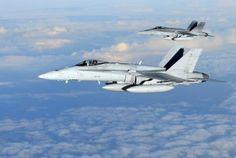 Finnish Air Force F-18 Hornets.