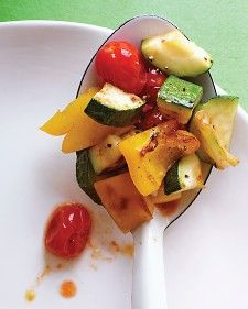 This dish is quick to prepare, but you can reduce the time even more by cutting the vegetables a day ahead; refrigerate in an airtight container, and proceed when the rest of the meal is almost ready.