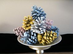 Party Decoration  12 Hand Painted Pine cones You by MorrellDecor, $14.99
