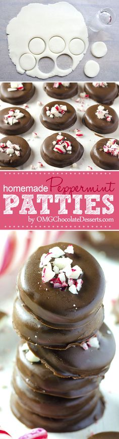 The best way to show your loved ones how much you care is to give them a homemade gift in form of these delicious Homemade Peppermint Patties. This can easily become your favorie Christmas recipe ever.