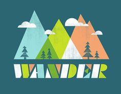 Wander Print by automatte on Etsy