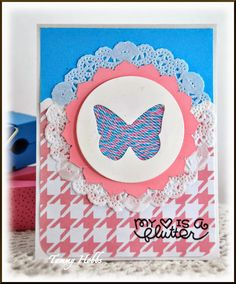Twine Butterfly Card by Tammy Hobbs @ Creating Somewhere Under The Sun using @twineitup #butterflycard, #twinecard