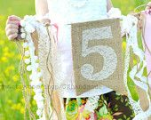 love this burlap banner on the door for penny's 2nd bday