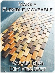 """Make a Flexible Moveable Wood Rug DIY Project Homesteading - The Homestead Survival .Com """"Please Share This Pin"""""""