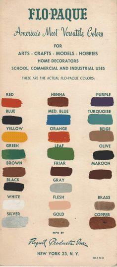 trend #inspiration 50´s color chart. muestrario de color de los años 50 « [marta mira alrededor] - La Coctelera