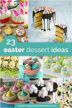 Easter is coming! Get ready by trying out these 23 adorable Easter desserts. How cute are the Easter basket cake pops Cute Easter Desserts, Easter Deserts, Easter Cupcakes, Easter Treats, Easter Recipes, Easy Desserts, Delicious Desserts, Dessert Recipes, Dessert Food