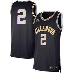 Men's Nike #2 Navy Villanova Wildcats Retro Limited Jersey