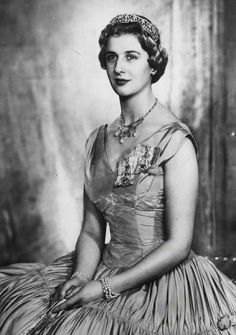 Princess Alexandra of Kent, the only daughter of Prince George ,Duke of Kent. She's also a grandaughter of George V and a cousin of Elizabeth II.