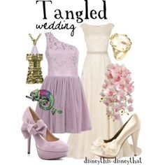 Rapunzel [feat. Pascal] (Outfits by DisneyThis-DisneyThat @Polyvore) #Tangled