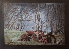 Tractor in Trees by JDLeeArts on Etsy